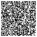 QR code with B & H Shutters contacts