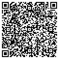 QR code with T & J Draperies contacts