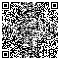 QR code with B & J's Canteen contacts