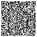 QR code with D & B Coins contacts