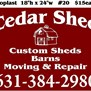 The cedar sheds in Riverhead, NY